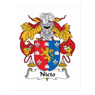 Escudo de la familia de Nieto Tarjetas Postales