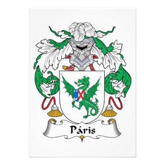 Escudo de la familia de París Invitacion Personalizada