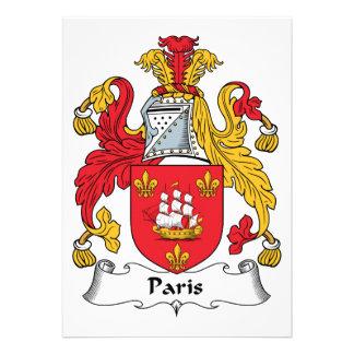Escudo de la familia de París Comunicados Personales