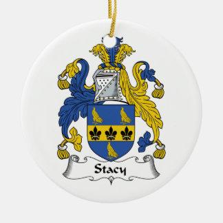 Escudo de la familia de Stacy Adorno Navideño Redondo De Cerámica