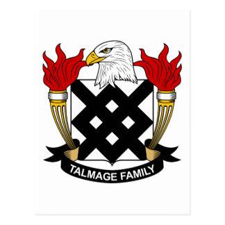 Escudo de la familia de Talmage Postal