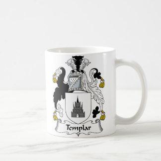 Escudo de la familia de Templar Taza De Café