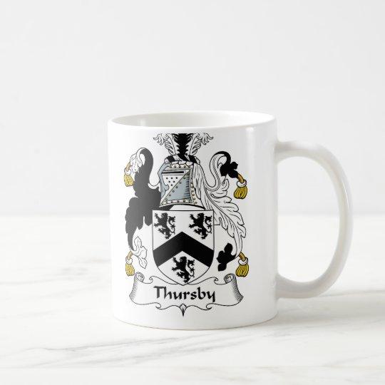 Escudo de la familia de Thursby Taza De Café