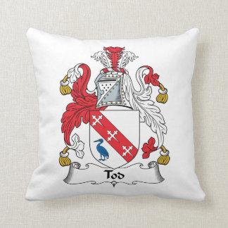 Escudo de la familia de Tod Cojines