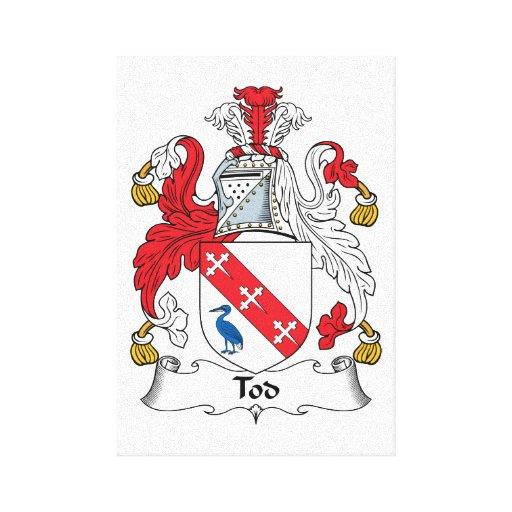 Escudo de la familia de Tod Lona Envuelta Para Galerias