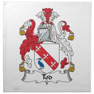 Escudo de la familia de Tod Servilleta De Papel