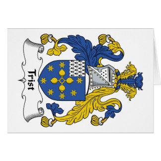 Escudo de la familia de Trist Tarjeta