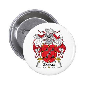 Escudo de la familia de Zapata Pins