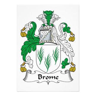 Escudo de la familia del Brome Comunicado