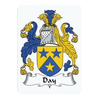 Escudo de la familia del día invitacion personalizada