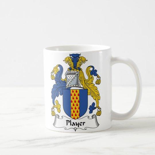 Escudo de la familia del jugador taza de café