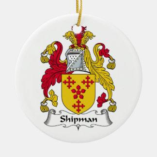 Escudo de la familia del marinero ornamentos de reyes magos