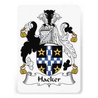 Escudo de la familia del pirata informático comunicados personalizados