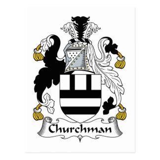 Escudo de la familia del sacerdote postales