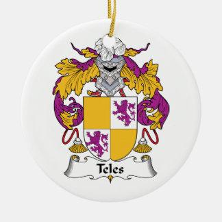 Escudo de la familia del Teles Ornamento De Navidad