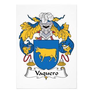 Escudo de la familia del Vaquero Invitación Personalizada