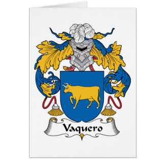 Escudo de la familia del Vaquero Tarjetón