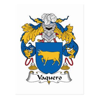 Escudo de la familia del Vaquero Postal
