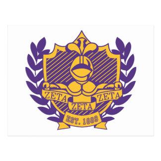Escudo de la fraternidad de la zeta de la zeta de postal