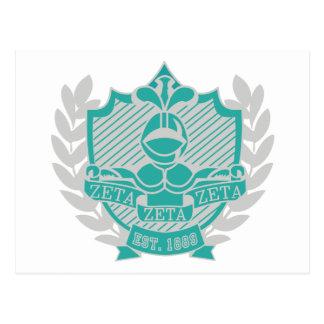 Escudo de la fraternidad de la zeta de la zeta de  tarjeta postal