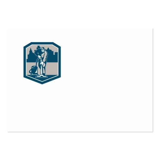 Escudo de la limpieza de la alfombra del vacío del plantilla de tarjeta de visita