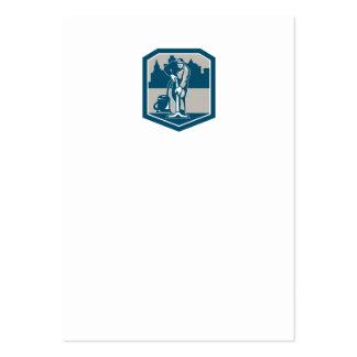 Escudo de la limpieza de la alfombra del vacío del tarjeta de negocio