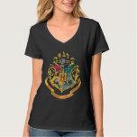 Escudo de las casas de Hogwarts cuatro Camisetas