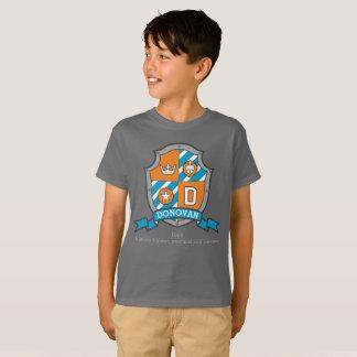 Escudo de los caballeros del nombre y del camiseta