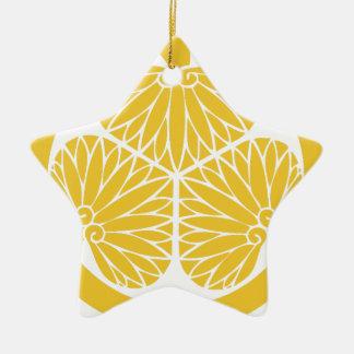 Escudo de lunes del clan de Tokugawa Adorno Navideño De Cerámica En Forma De Estrella