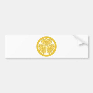 Escudo de lunes del clan de Tokugawa Pegatina Para Coche