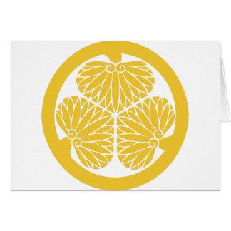 Escudo de lunes del clan de Tokugawa Tarjeta De Felicitación