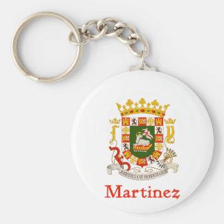 Escudo de Martínez de Puerto Rico Llavero Redondo Tipo Chapa