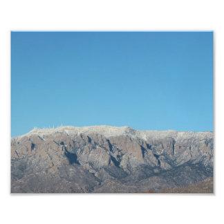 Escudo de Sandia con nieve en Albuquerque Arte Fotográfico