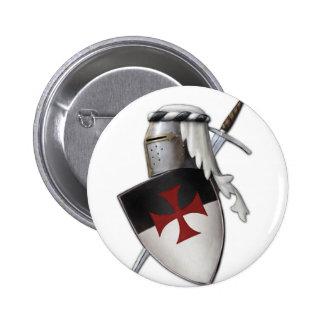 Escudo de Templar de los caballeros Chapa Redonda De 5 Cm
