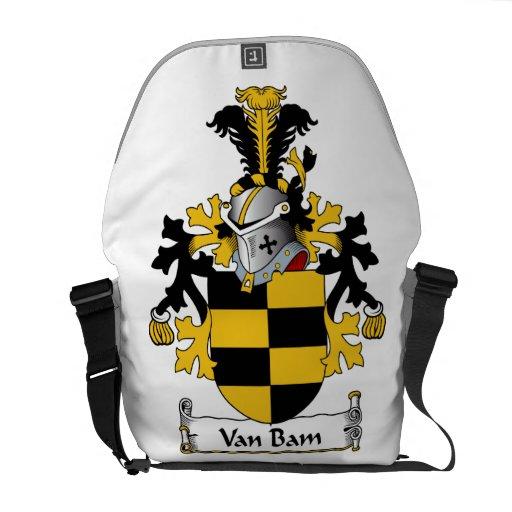 Escudo de Van Bam Family Bolsa De Mensajería