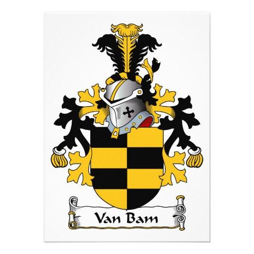 Escudo de Van Bam Family Anuncio Personalizado