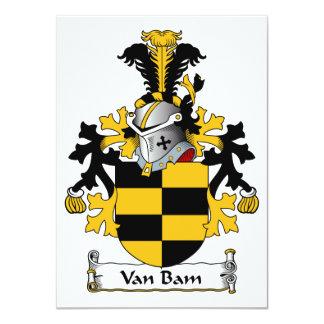 Escudo de Van Bam Family Invitación 11,4 X 15,8 Cm