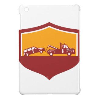 Escudo del coche de remolque de la grúa retro
