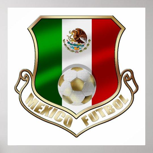 Escudo del fútbol del emblema de la insignia de Me Póster