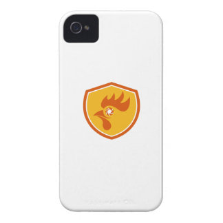 Escudo del obturador del ojo del gallo retro carcasa para iPhone 4 de Case-Mate