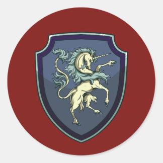 Escudo del pegatina del unicornio