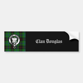 Escudo del tartán de Douglas del clan Pegatina Para Coche