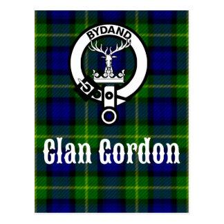 Escudo del tartán de Gordon del clan Postal