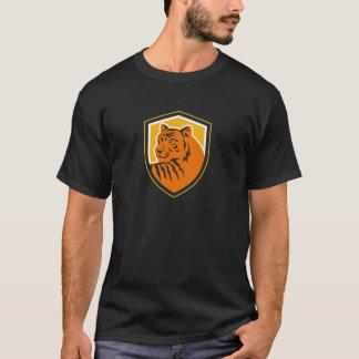 Escudo delantero principal del tigre retro camiseta