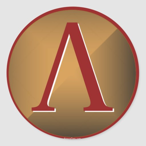 Escudo espartano de la lambda pegatinas redondas
