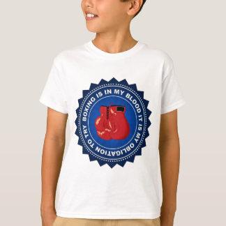 Escudo fantástico del boxeo camiseta