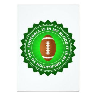 Escudo fantástico del fútbol invitación 12,7 x 17,8 cm