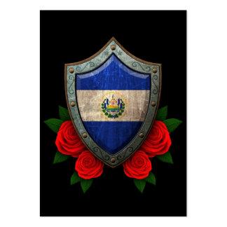 Escudo gastado de la bandera de El Salvador con lo Tarjeta De Visita