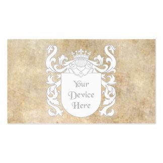 Escudo heráldico adaptable plantilla de tarjeta de negocio