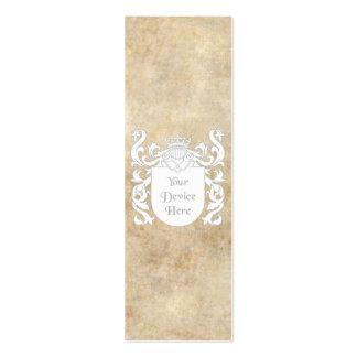 Escudo heráldico adaptable plantilla de tarjeta de visita
